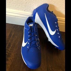 Men's Nike Max Air Flywire blue cleats 13